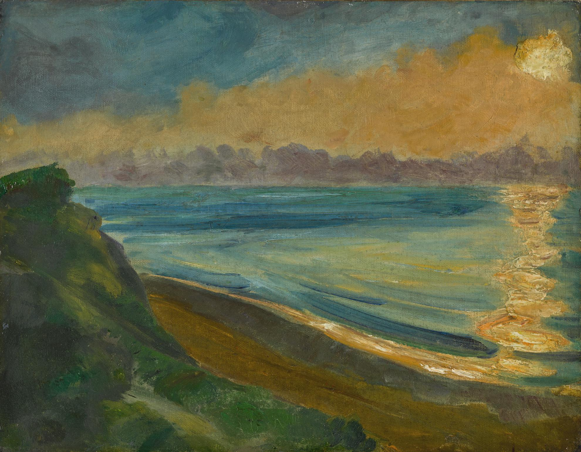 Max Pechstein-Steilkuste Und Sonnenspiegelung (Steep Coast And Sun Reflection)-1922