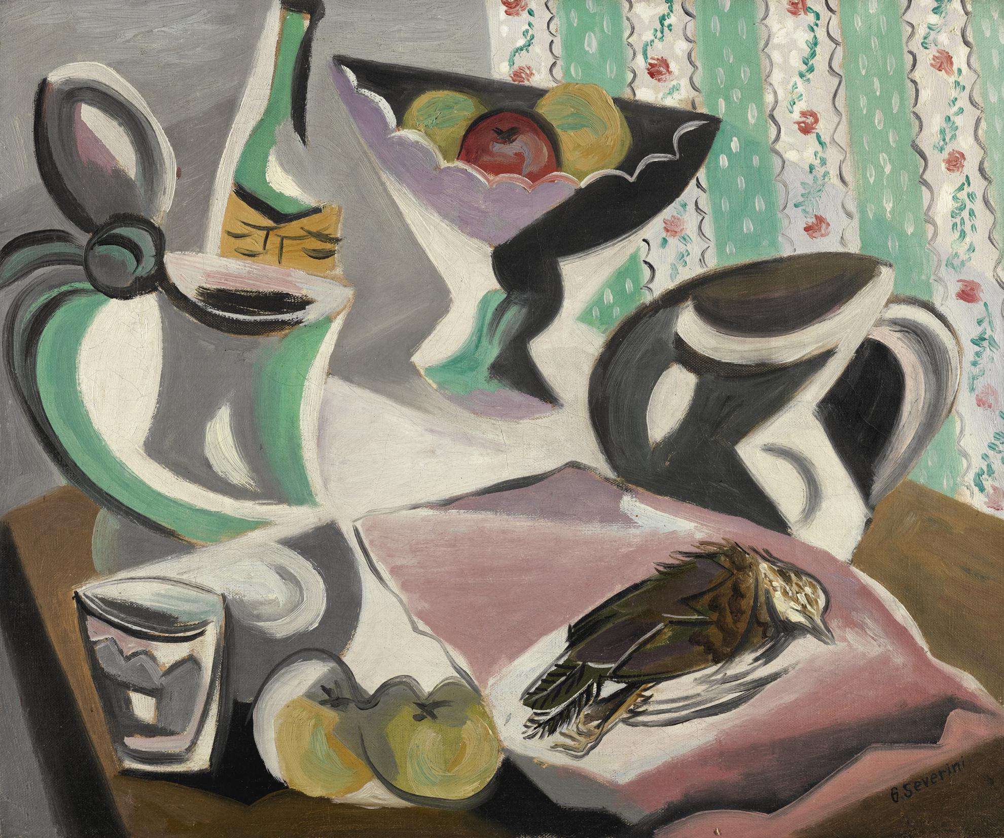 Gino Severini-Nature Morte Avec Oiseau-1943