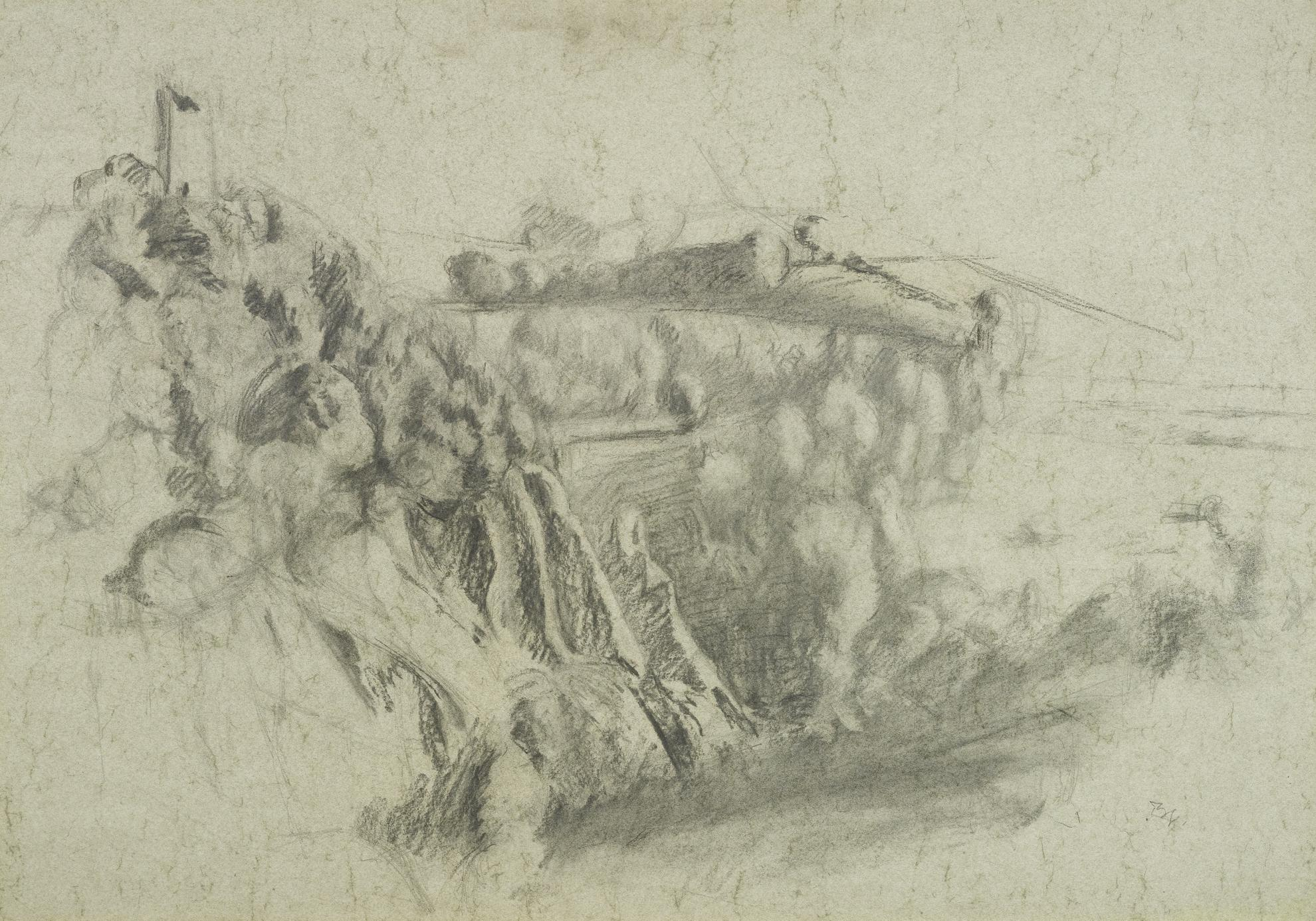 Balthus-Paysage De Monte Calvello-1978