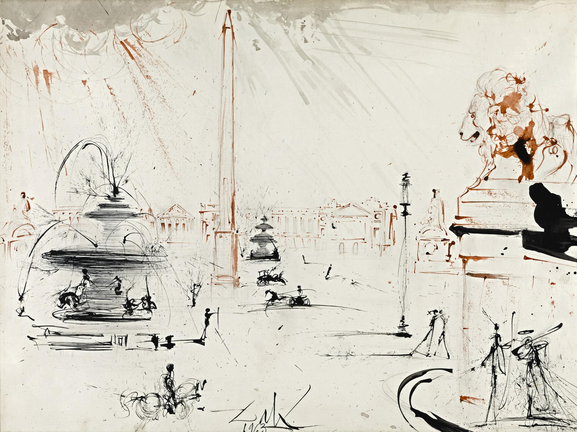 Salvador Dali-Place De La Concorde-1963
