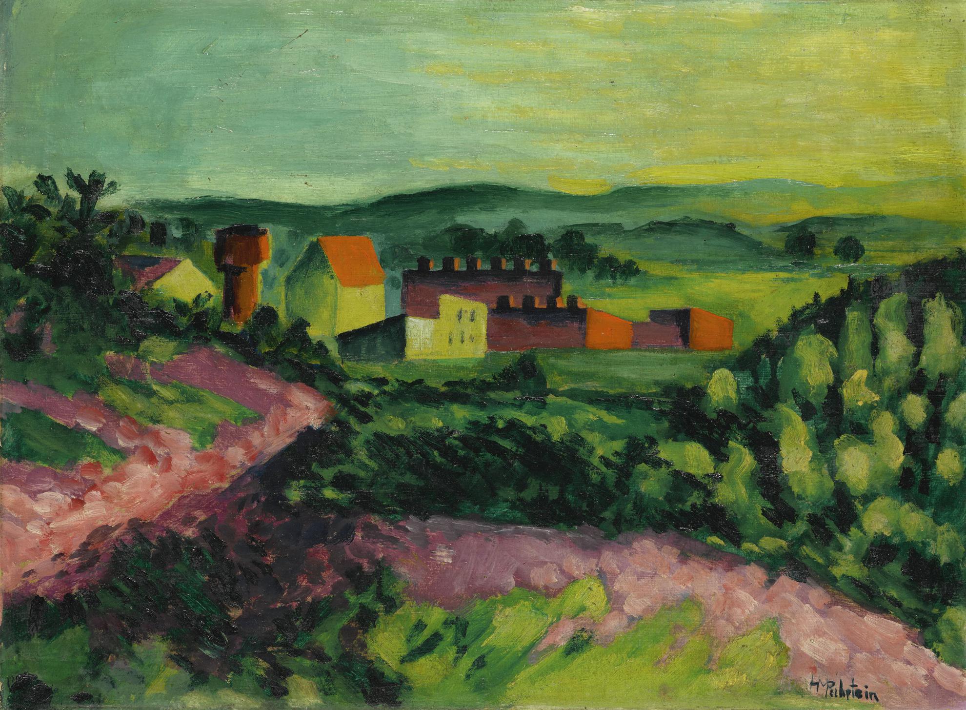 Max Pechstein-Landschaft (Landscape)-1922