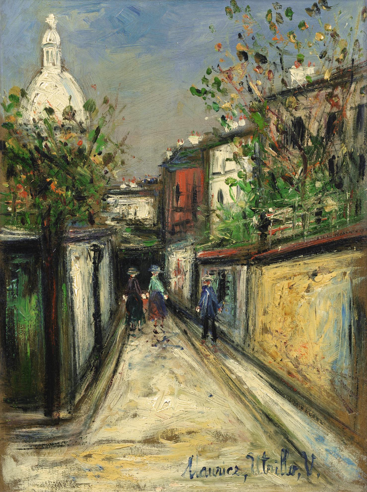 Maurice Utrillo-Rue De Montmartre-