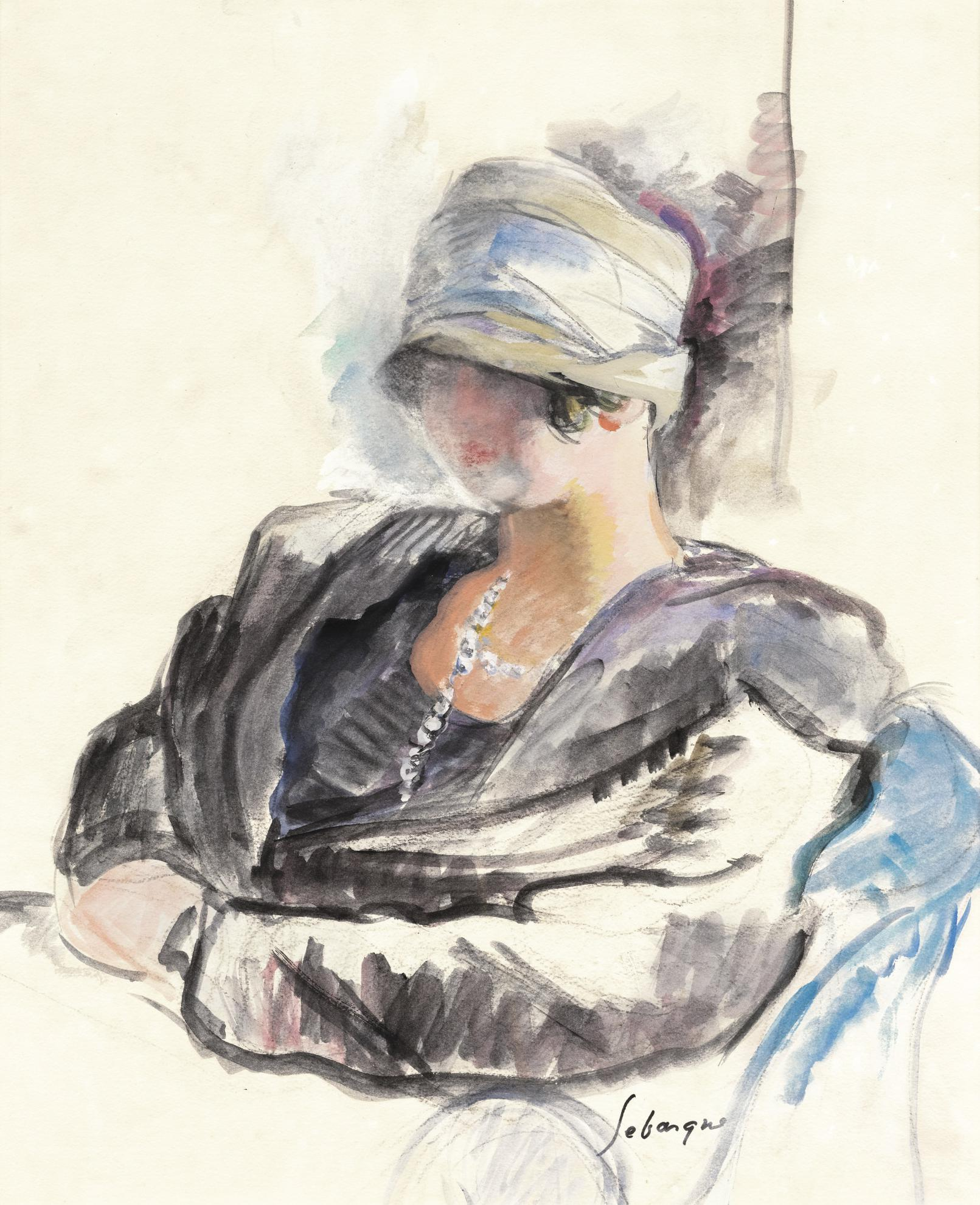 Henri Lebasque-Jeune Femme Au Chapeau Cloche-1925