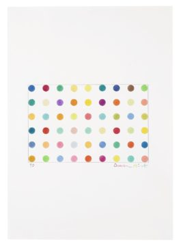 Damien Hirst-Spot Drawing No. 2-1990