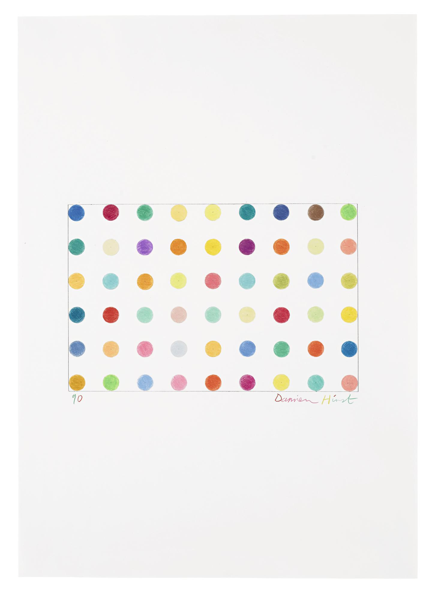 Damien Hirst-Spot Drawing No. 2-1990