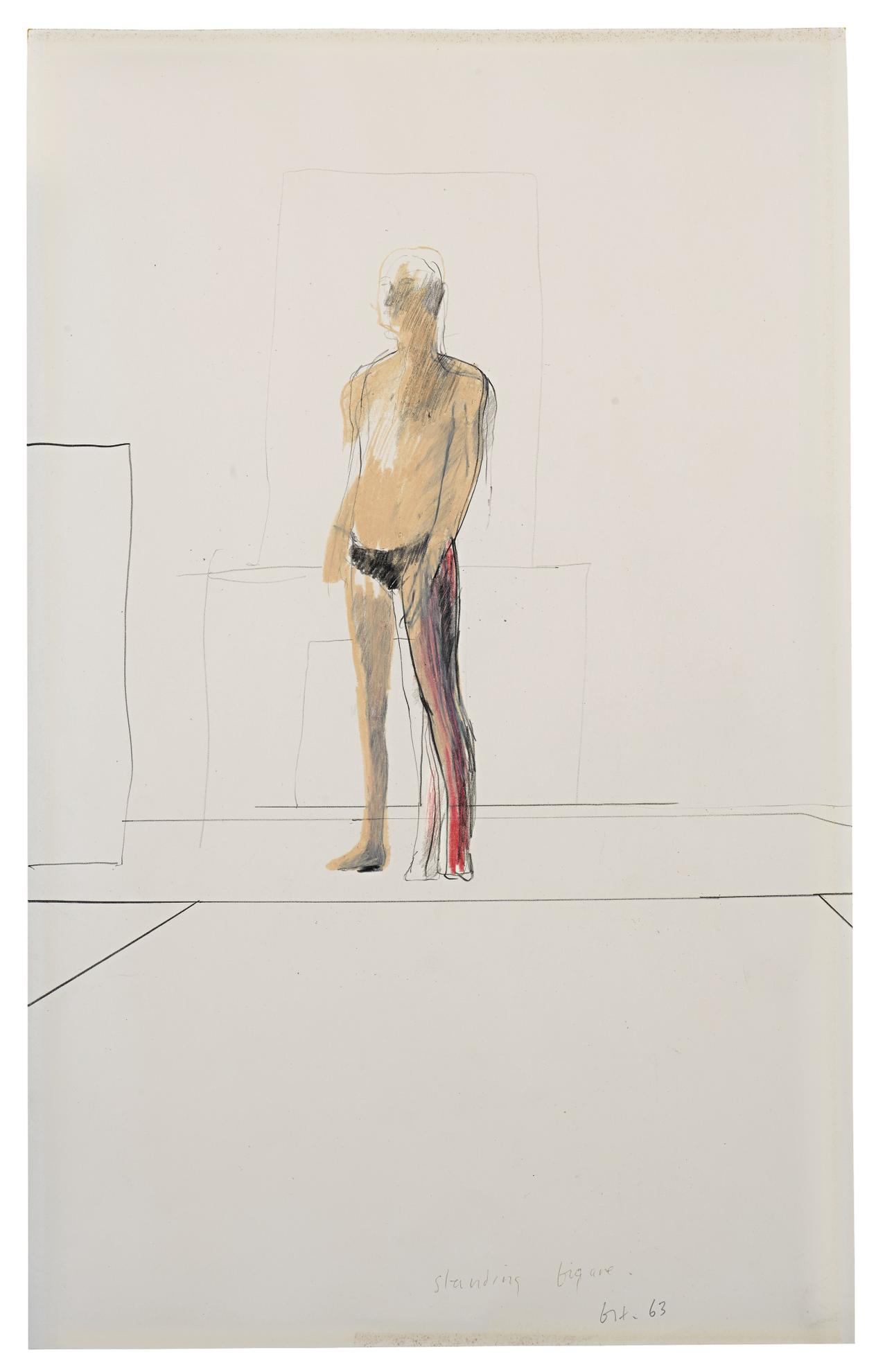 David Hockney-Standing Figure-1963