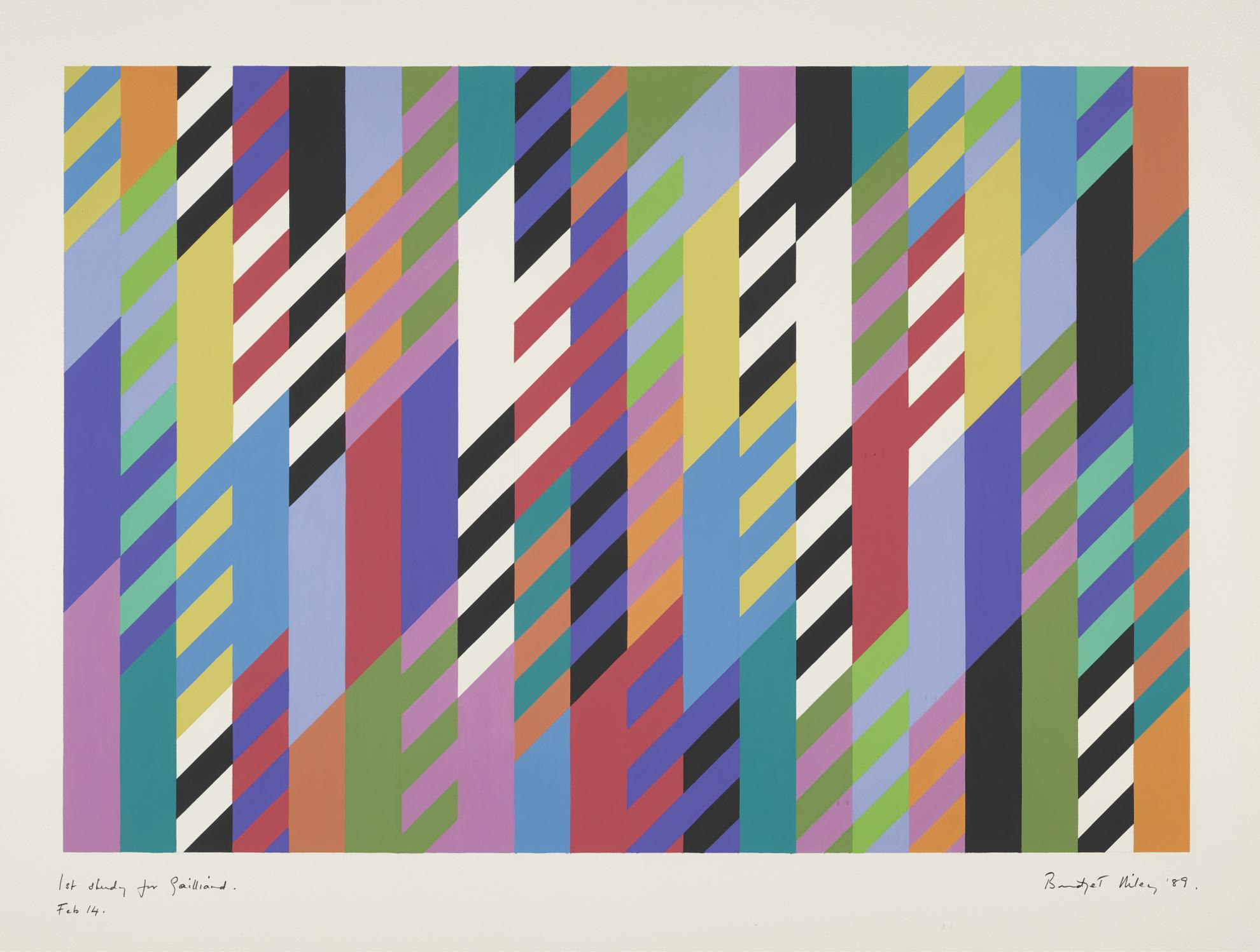 Bridget Riley-1St Study For Gailliard-1989