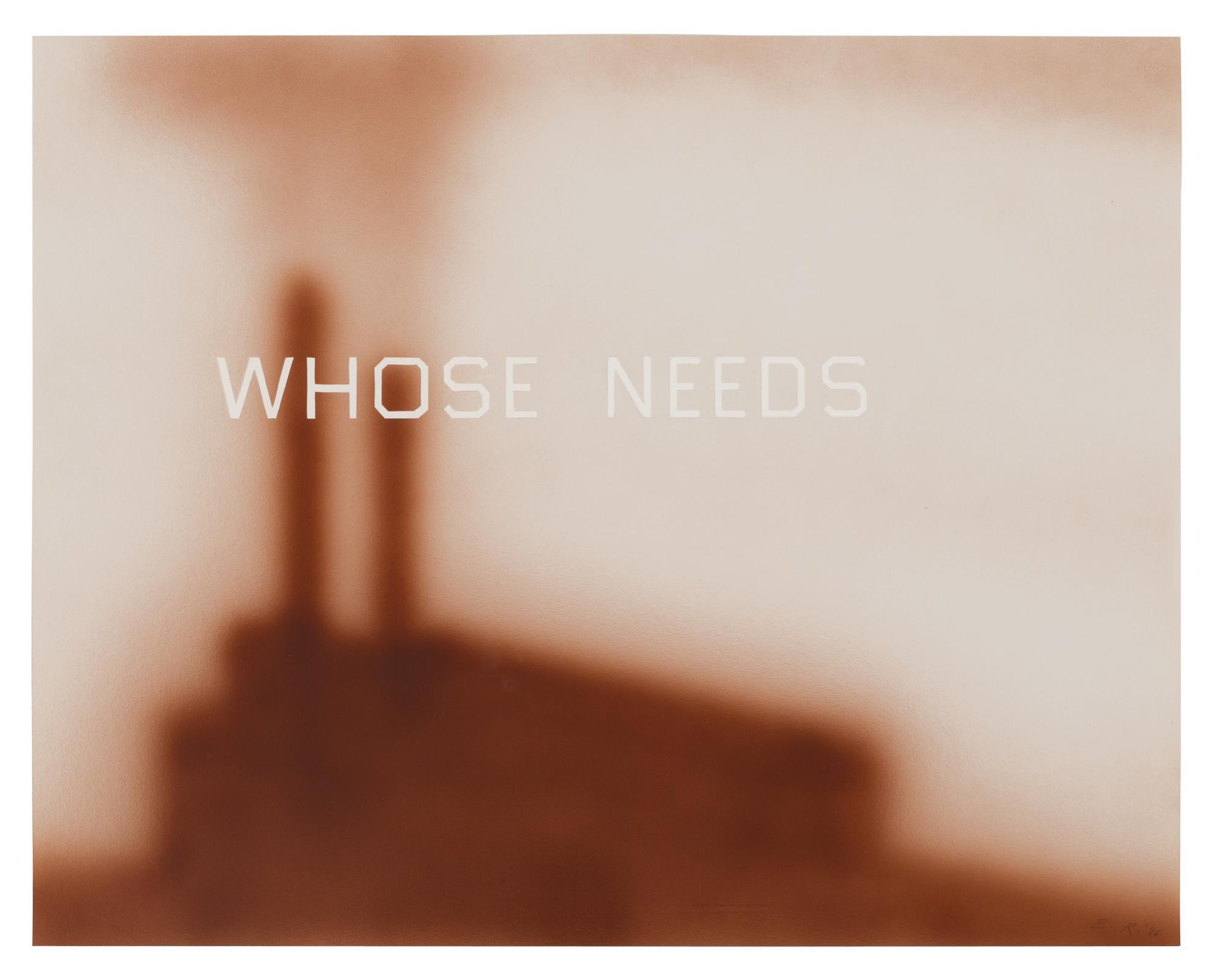 Ed Ruscha-Whose Needs-1986