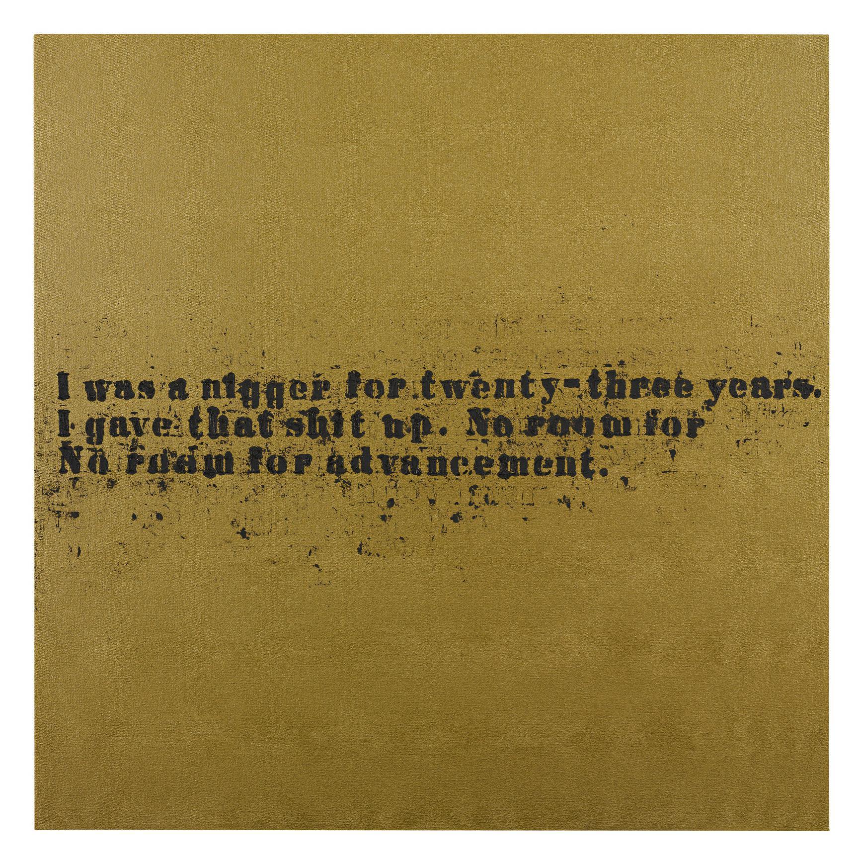 Glenn Ligon-No Room (Gold) #31-2007
