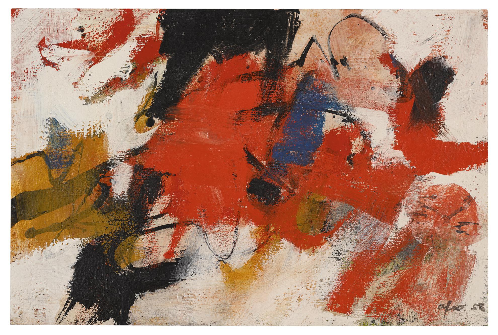 Afro Basaldella-Rosso Col Bianco-1956