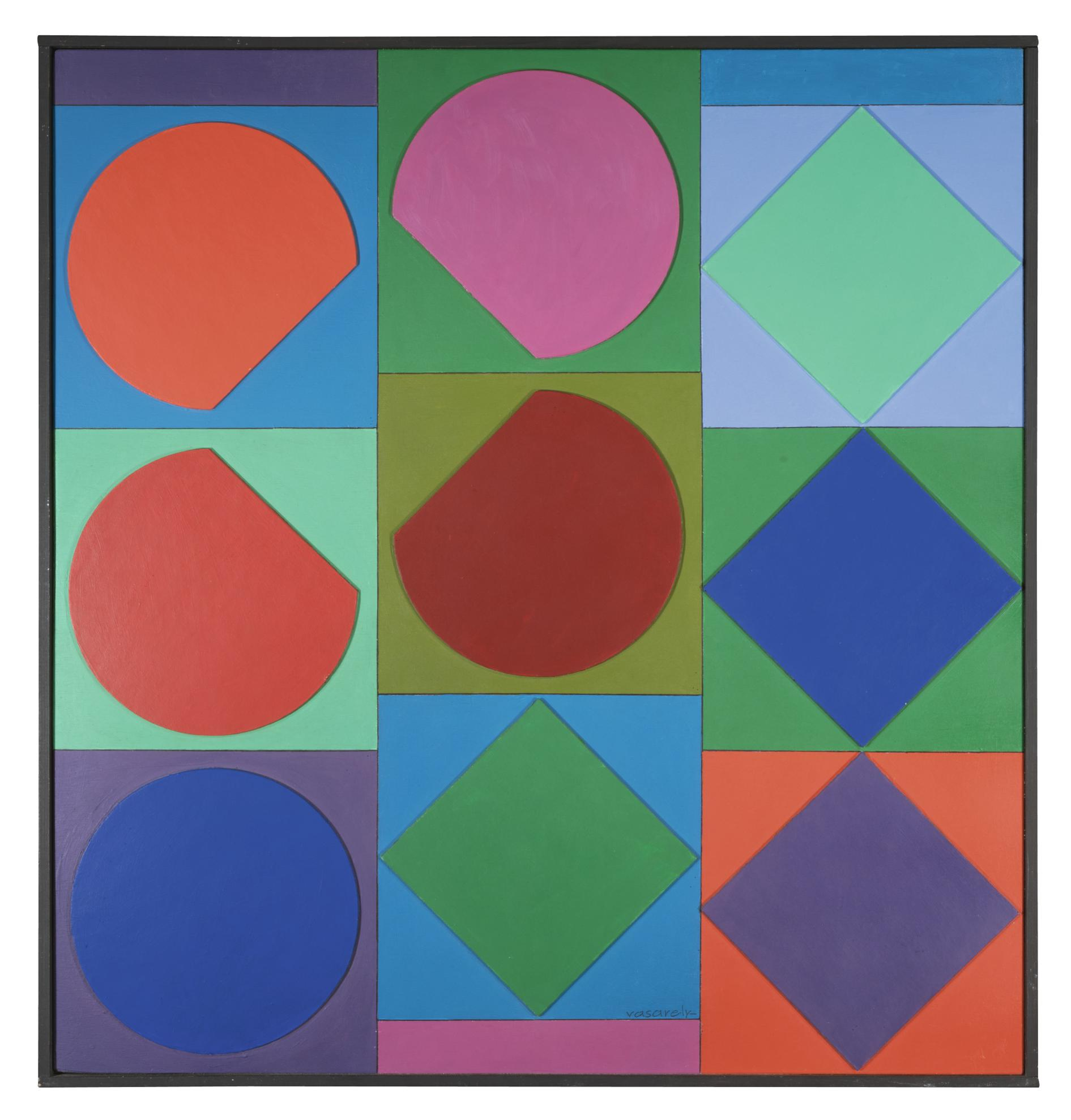Victor Vasarely-R-Beryll-1965