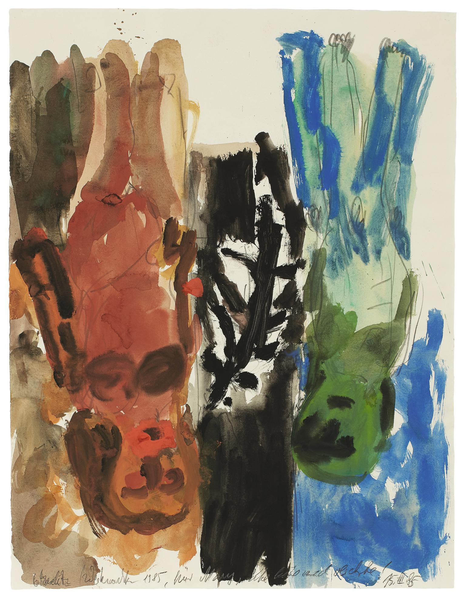 Georg Baselitz-Untitled (Mother And Child)-1985