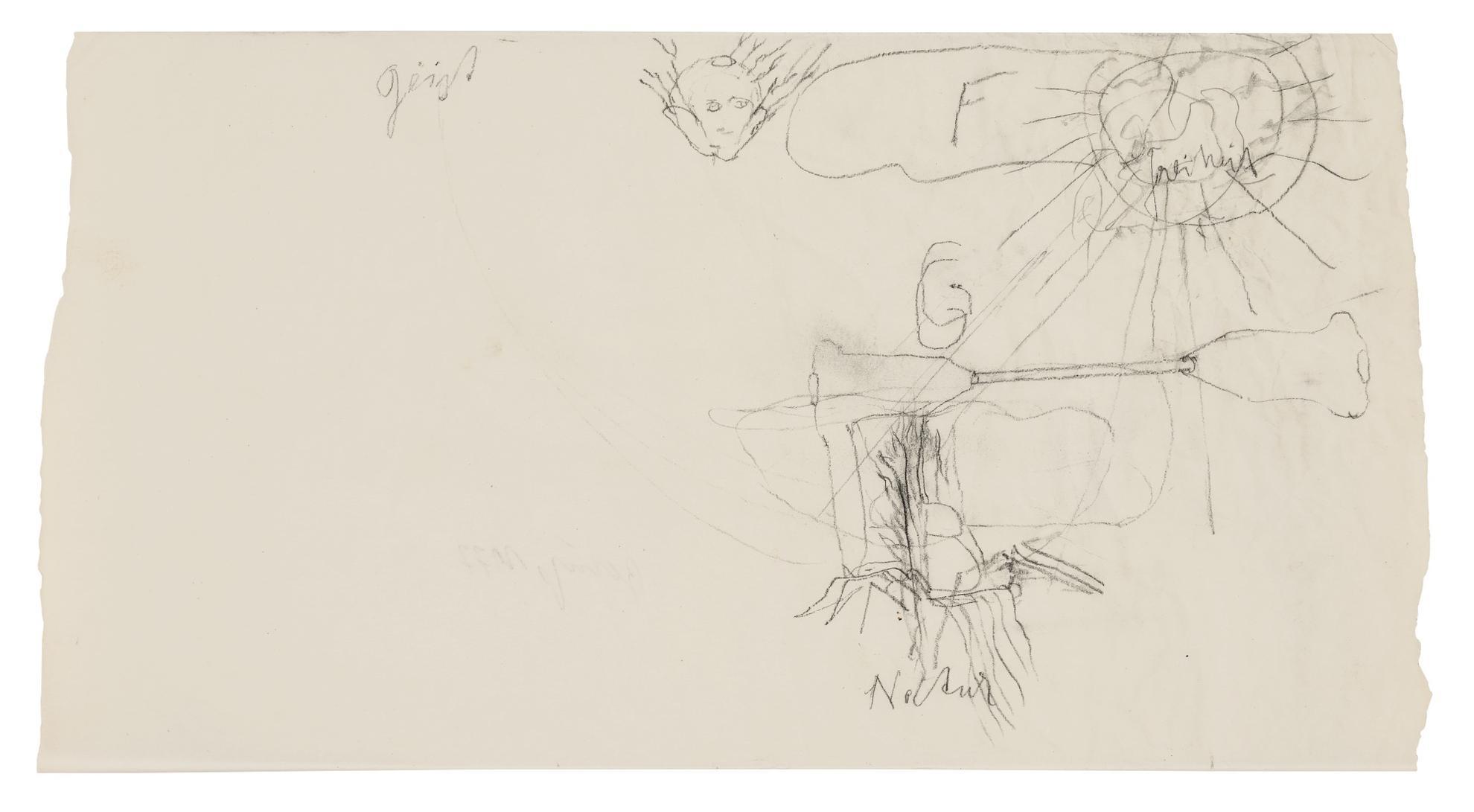 Joseph Beuys-Ohne Titel (Geist Natur)-1977