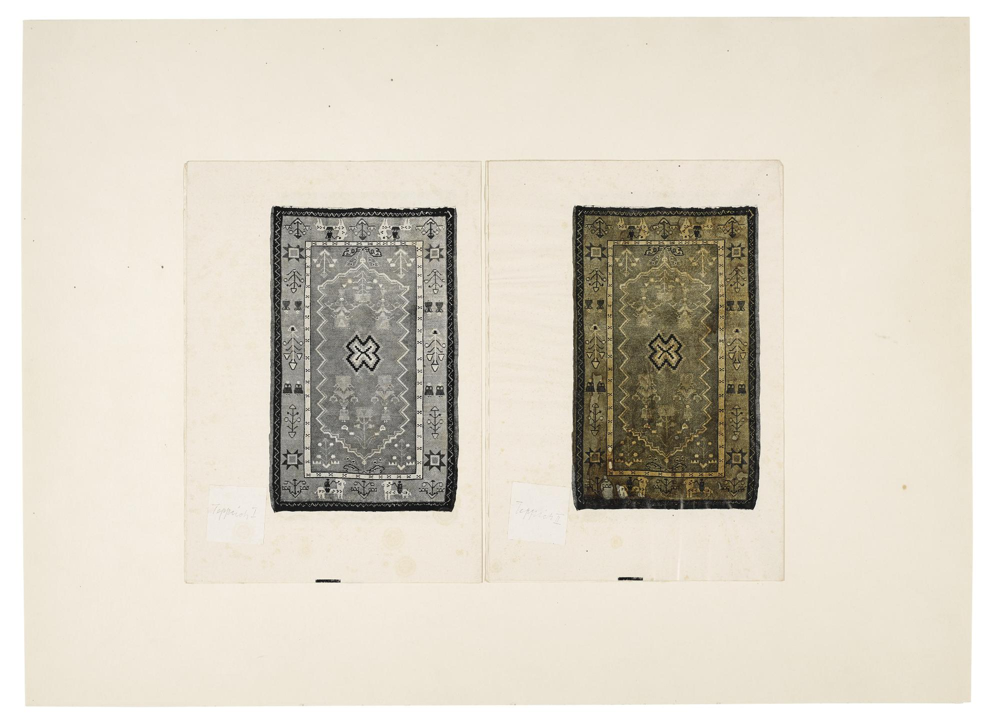 Joseph Beuys-Teppich I / Teppich Ii (Teppich Ii Mit Hasenblut)-1961