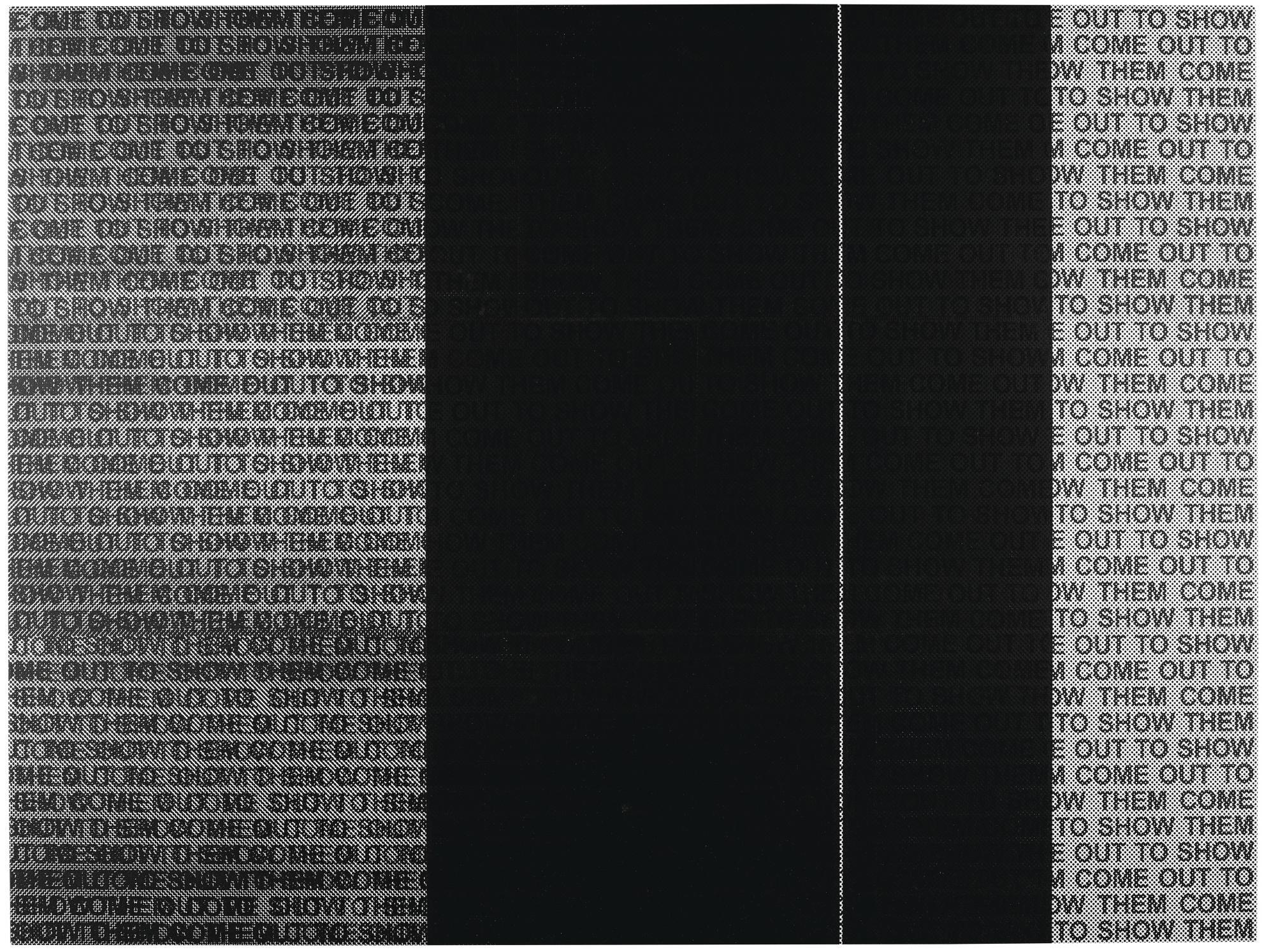 Glenn Ligon-Come Out Study #16-2014