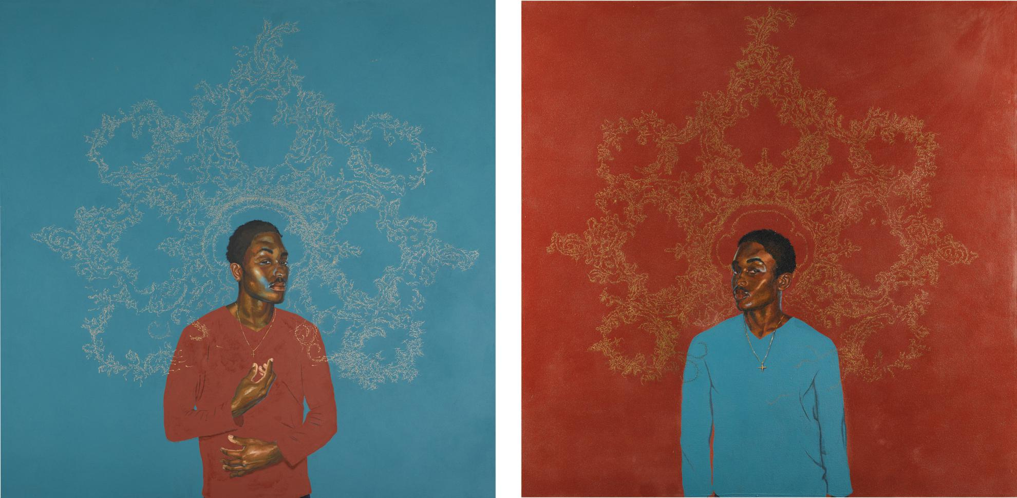 Kehinde Wiley-Passing/Posing (Diptych)-2002