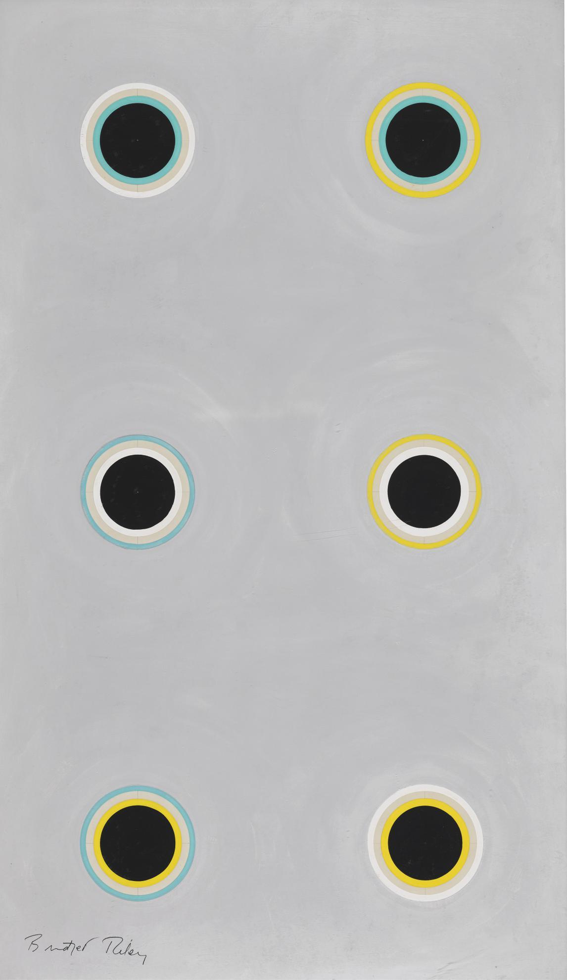Bridget Riley-Six Circles-1970