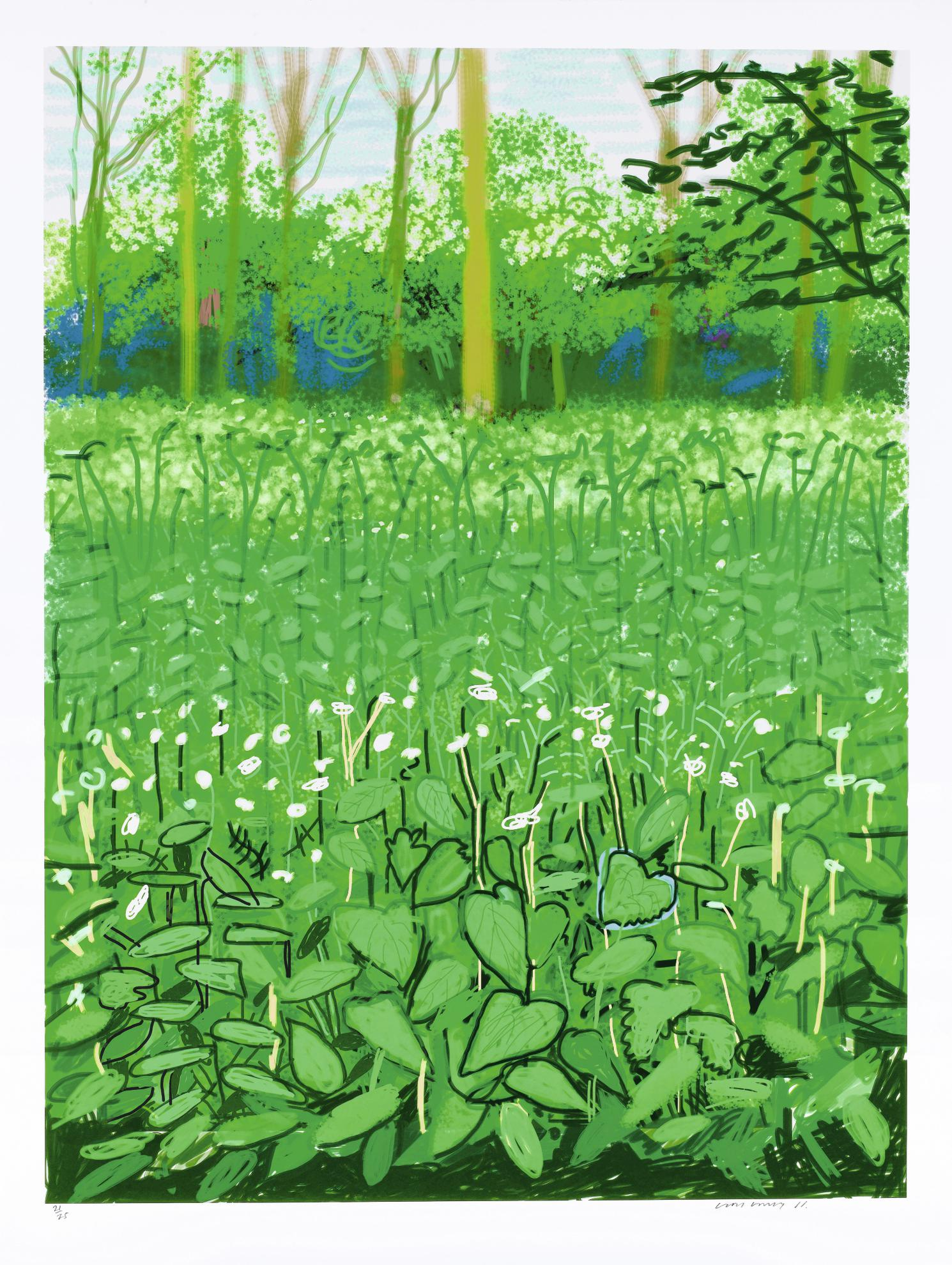 David Hockney-The Arrival Of Spring In Woldgate, East Yorkshire In 2011. 6 May-2011