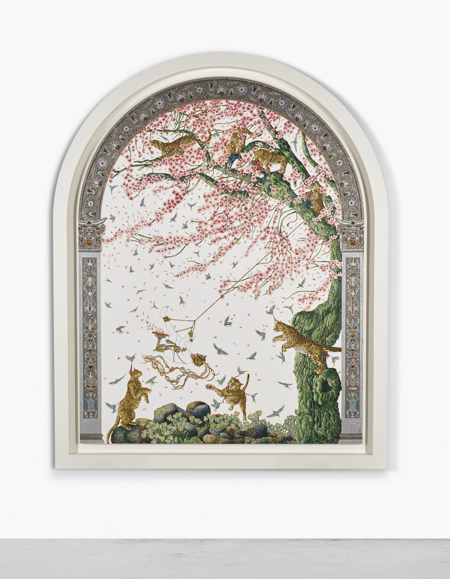 Raqib Shaw-Arched Blossom Gatherer I-2011