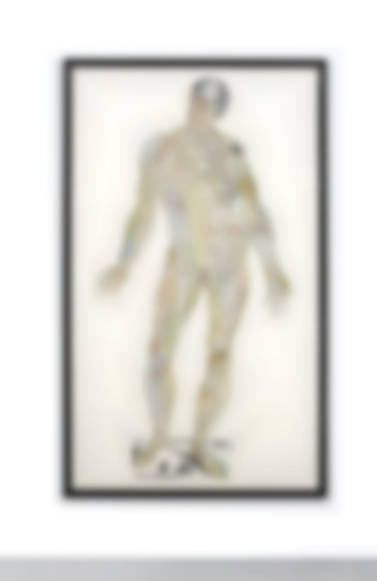 Matthew Day Jackson-Anatomical Drawing (Terra = Muscles)-2011