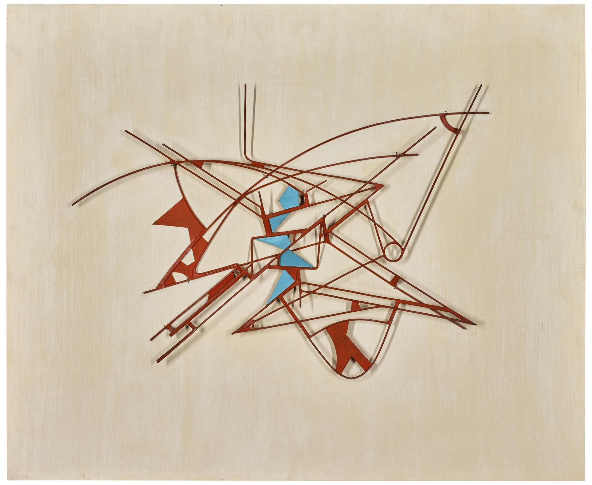 Walter Bodmer - Bemaltes Metallrelief-1959