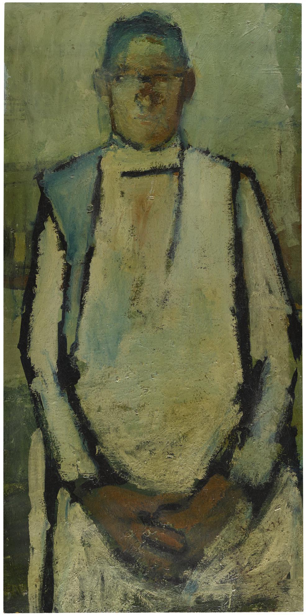 David Hockney-Portrait Of John Sharp-1953