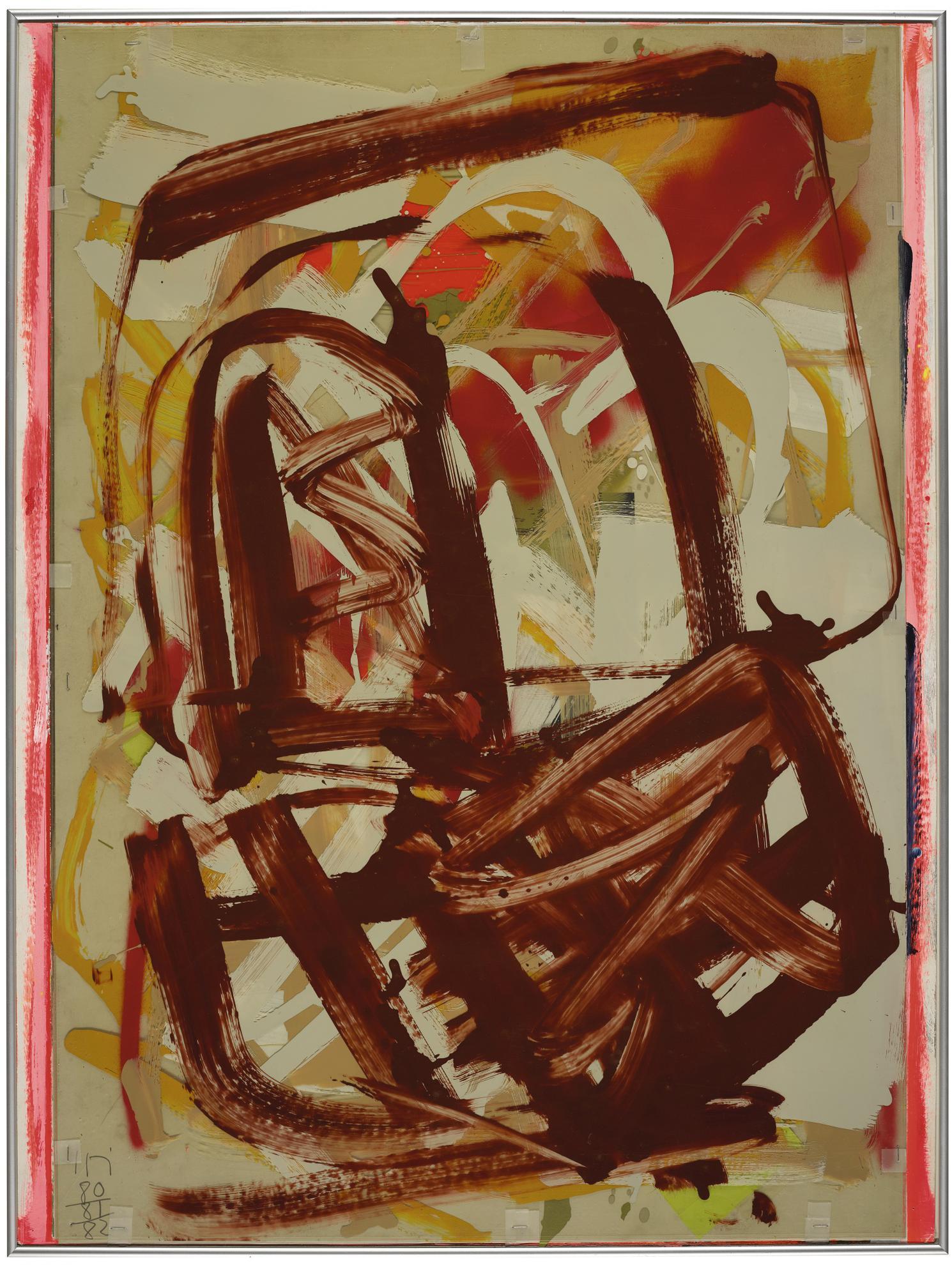 Imi Knoebel-Untitled (Entscheidungszeichnung)-1982