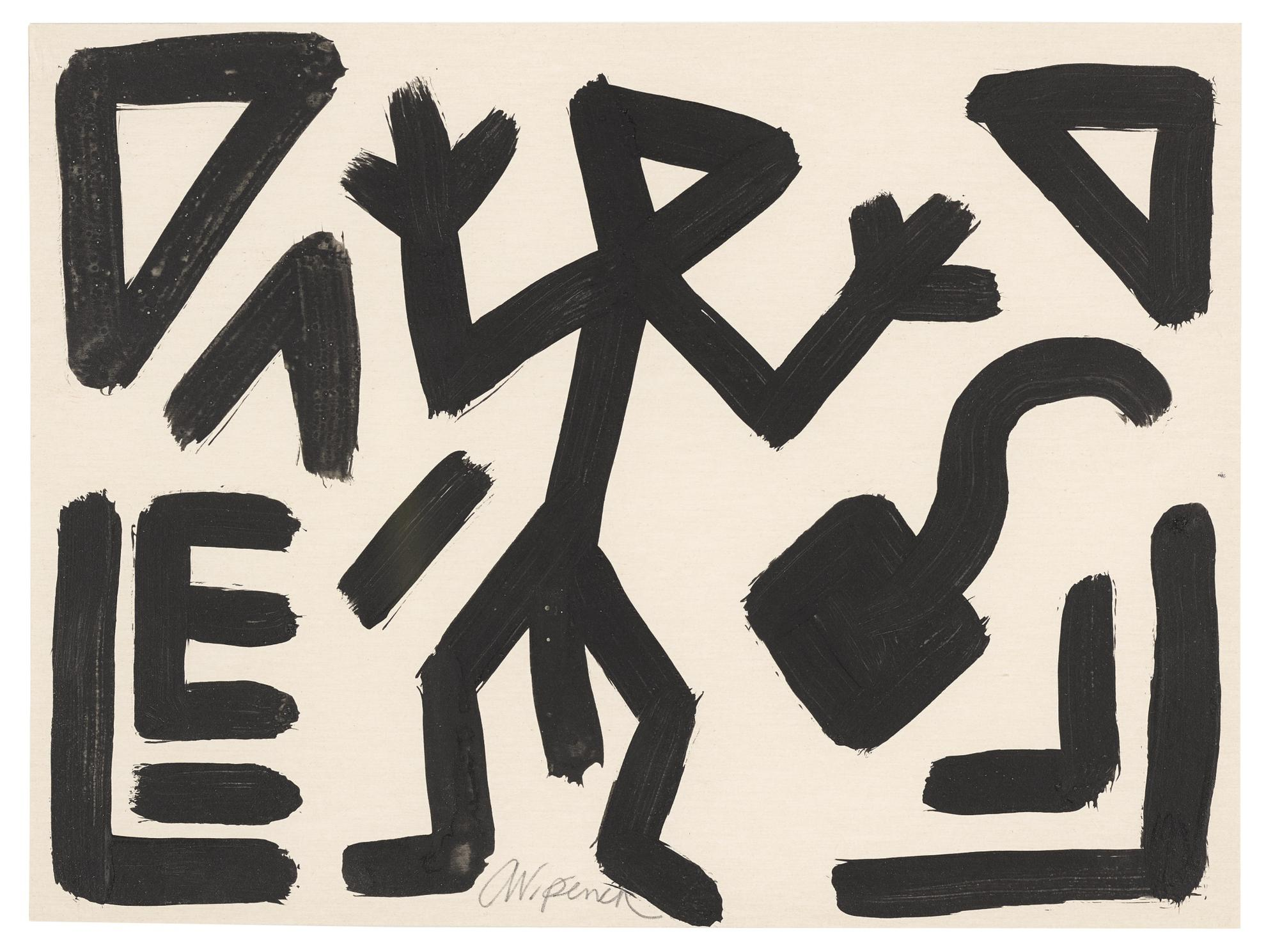 A.R. Penck-Untitled-1994