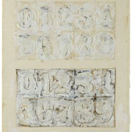 Elaine Sturtevant-Drawing Study For Johns White Numbers-1991