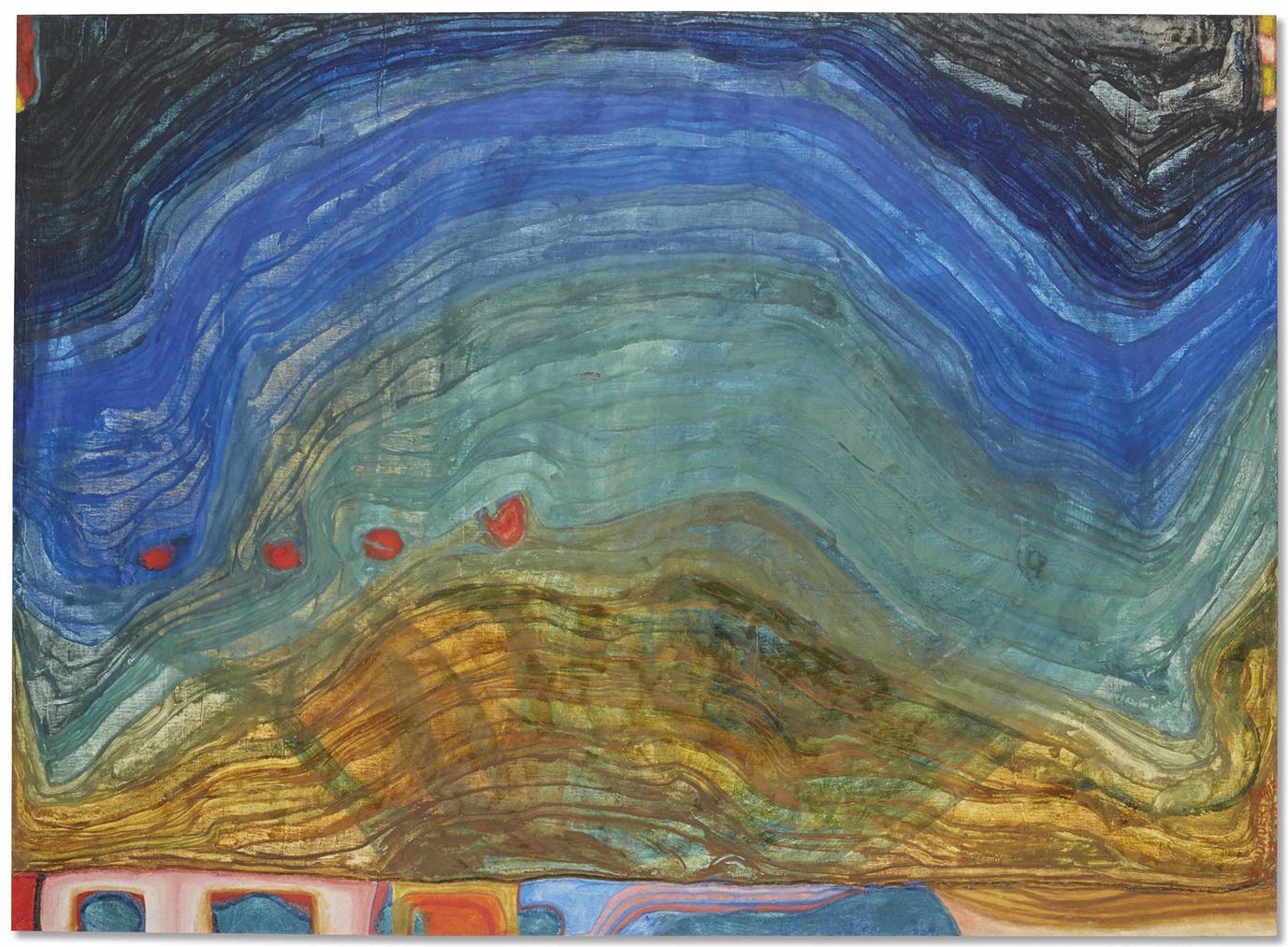 Friedensreich Hundertwasser-Montagne-1956