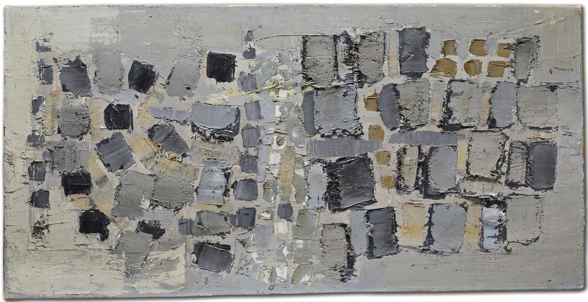 Nicolas de Stael-Composition En Noir Et Blanc (Les Paves)-1951