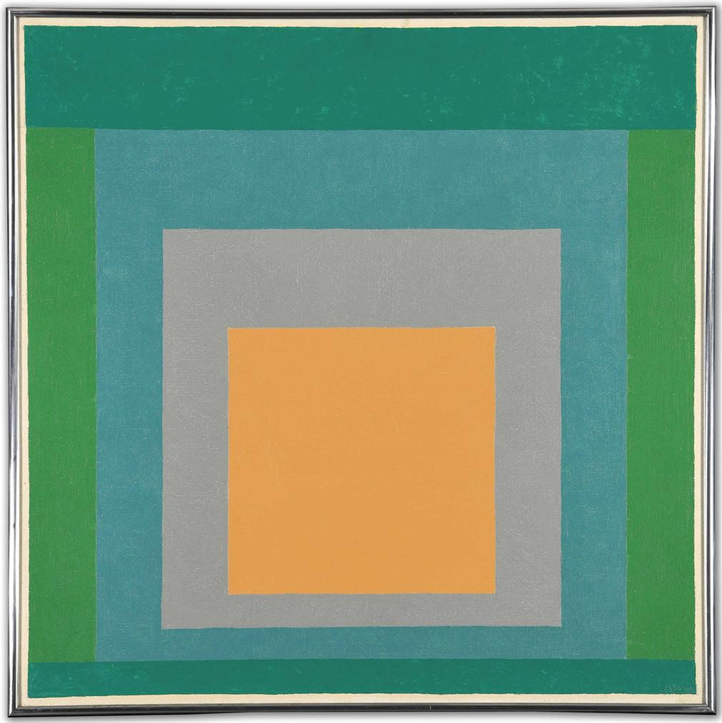 Josef Albers-Study For Homage To The Square Friendly Sky-1961