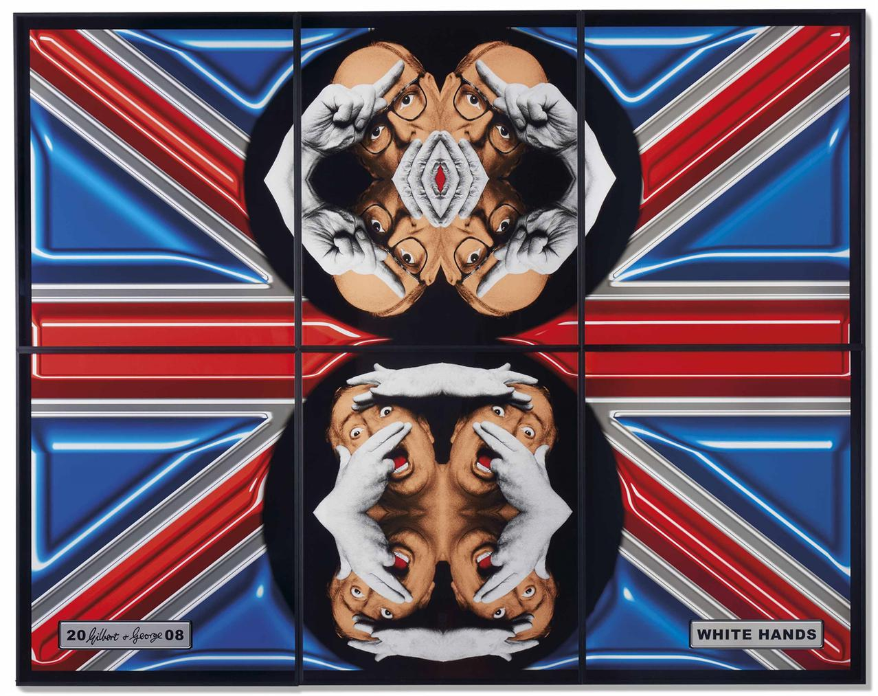 Gilbert and George-White Hands-2008