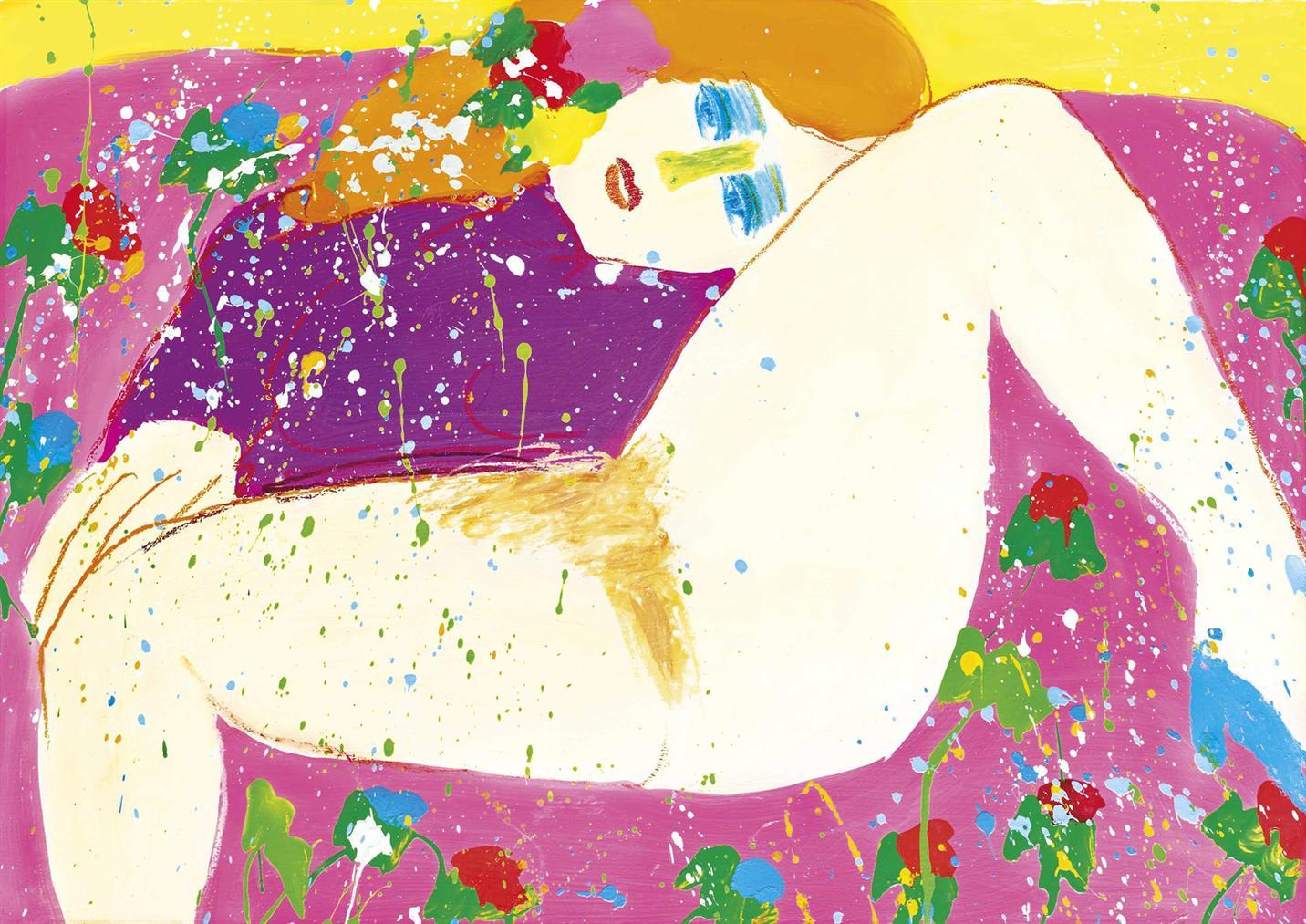 Walasse Ting-De La Serie Red Mouth-1978