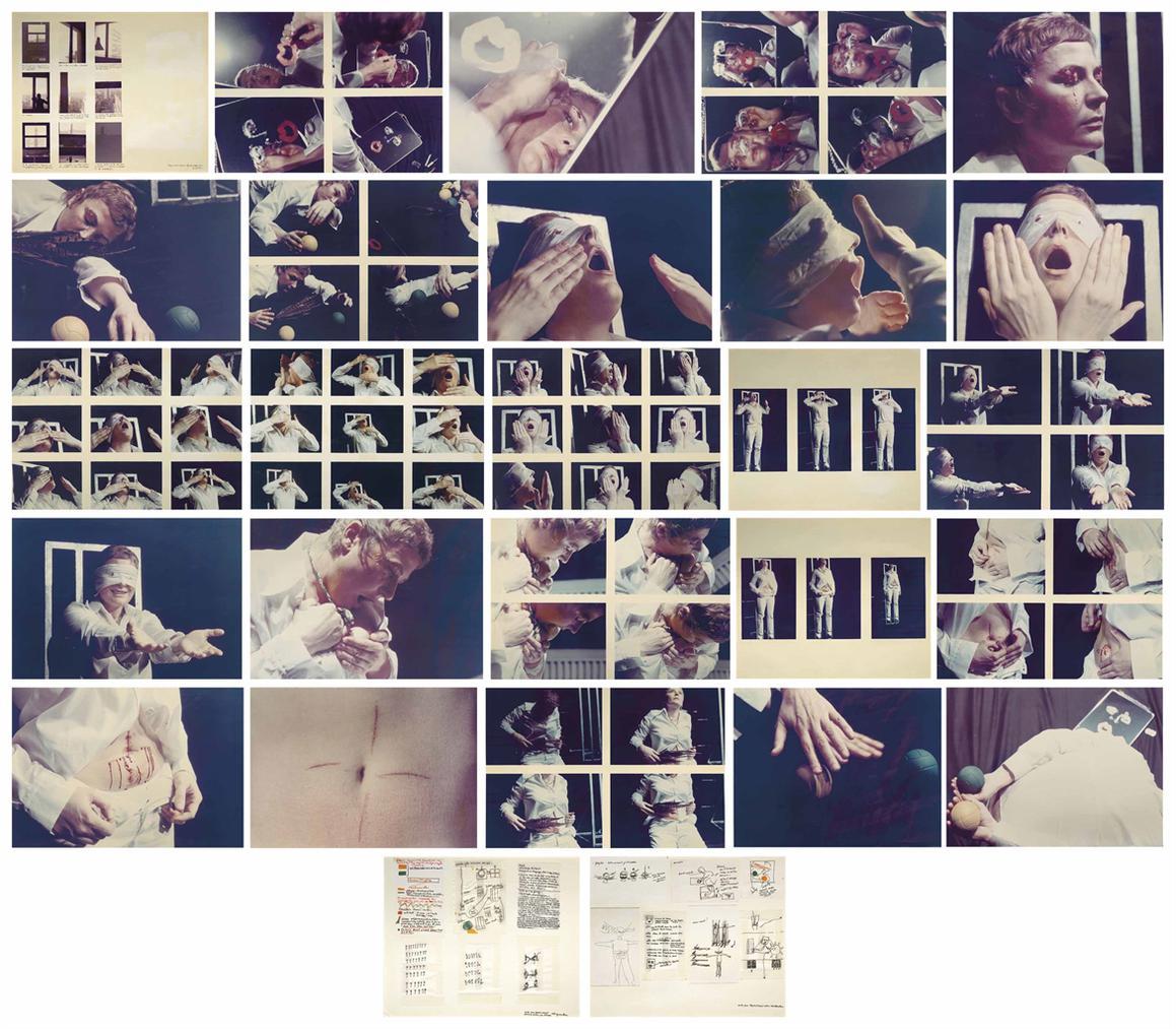 Gina Pane-Action Psyche-1974