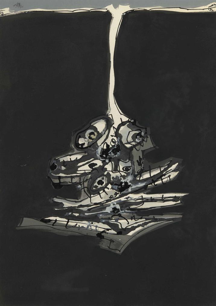 Antonio Saura-Chien De Goya-1979