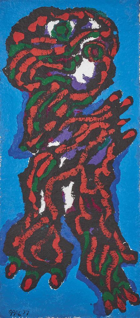 Karel Appel-Sans Titre-1977