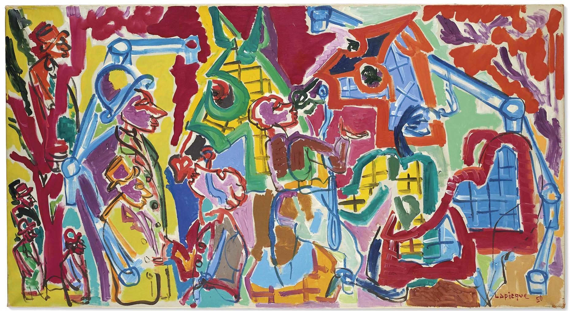 Charles Lapicque-Au Paddock-1950