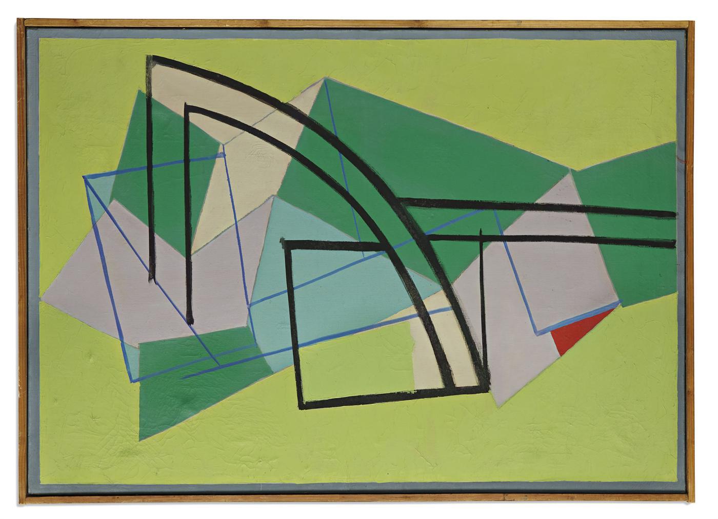 Richard Mortensen-Triangle Rouge-1952
