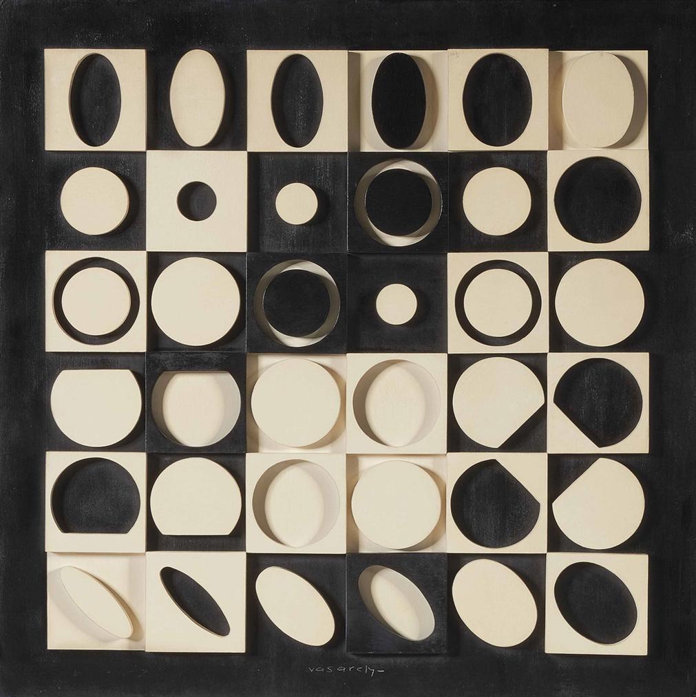 Victor Vasarely-G-Noir-Blanc-1964