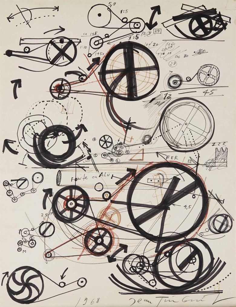 Jean Tinguely-Sans Titre-1968