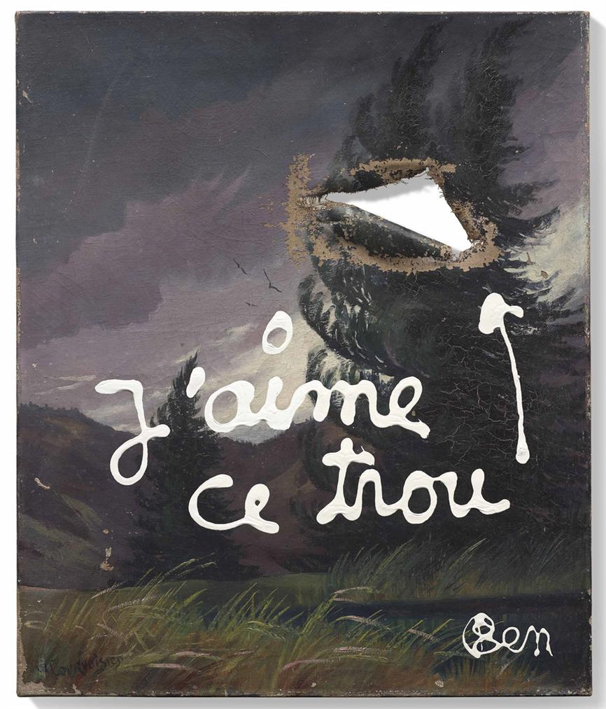 Ben Vautier-Jaime Ce Trou-1999