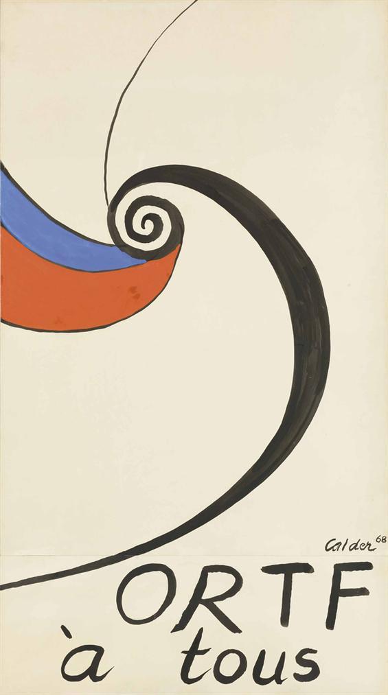Alexander Calder-Projet Pour «Ortf A Tous»-1968
