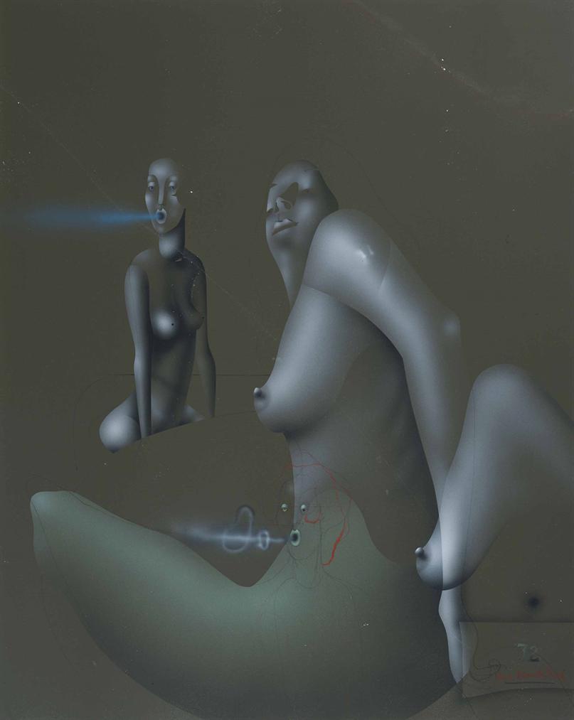 Paul Wunderlich-Fumee Bleue-1972