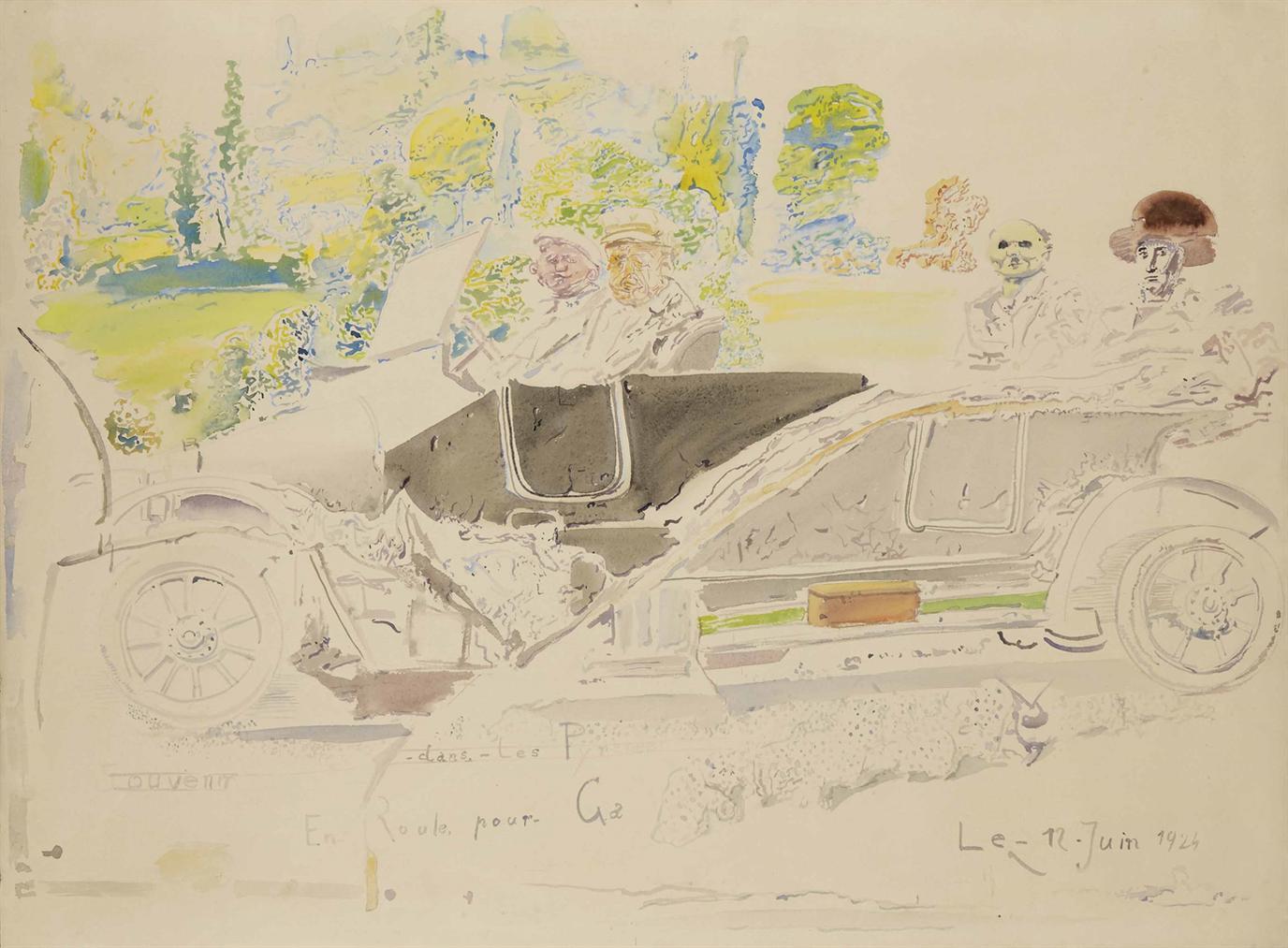 Miodrag Djuric Dado-Souvenirs Dans Les Pyrenees (En Route Pour Ga)-1964