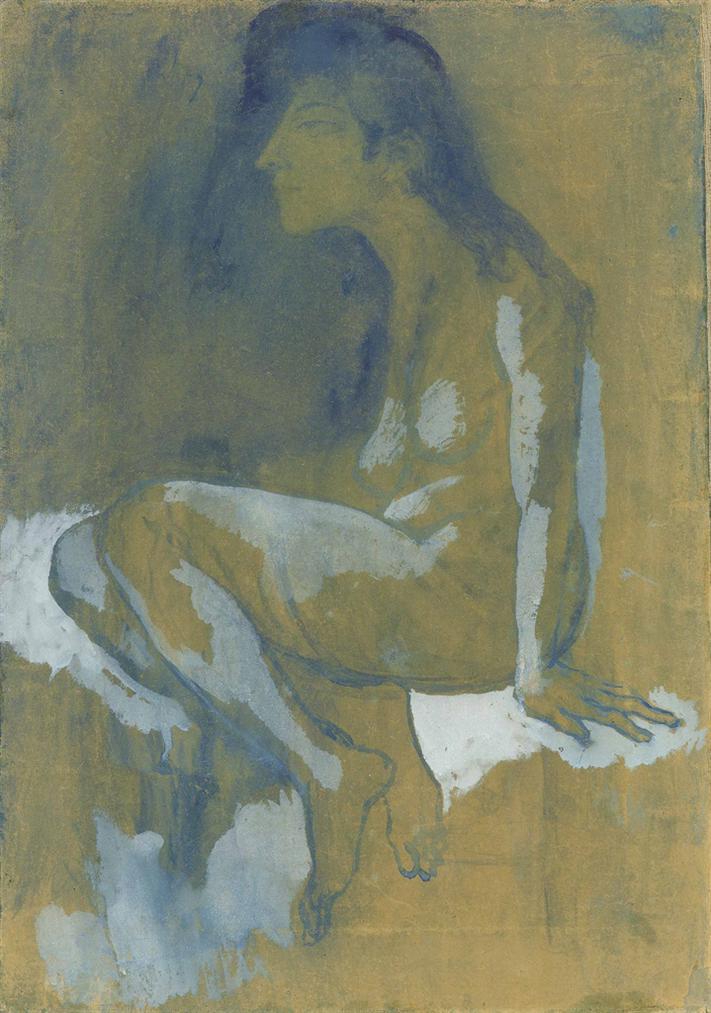 Pablo Picasso-Femme Accroupie-1903