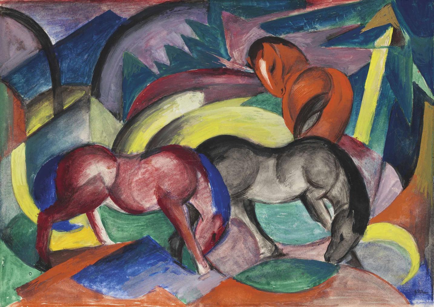 Franz Marc-Drei Pferde-1912