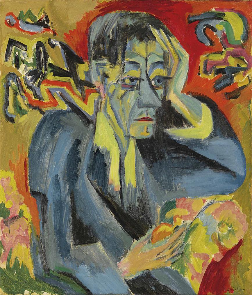 Ernst Ludwig Kirchner-Bildnis Des Dichters Frank-1917