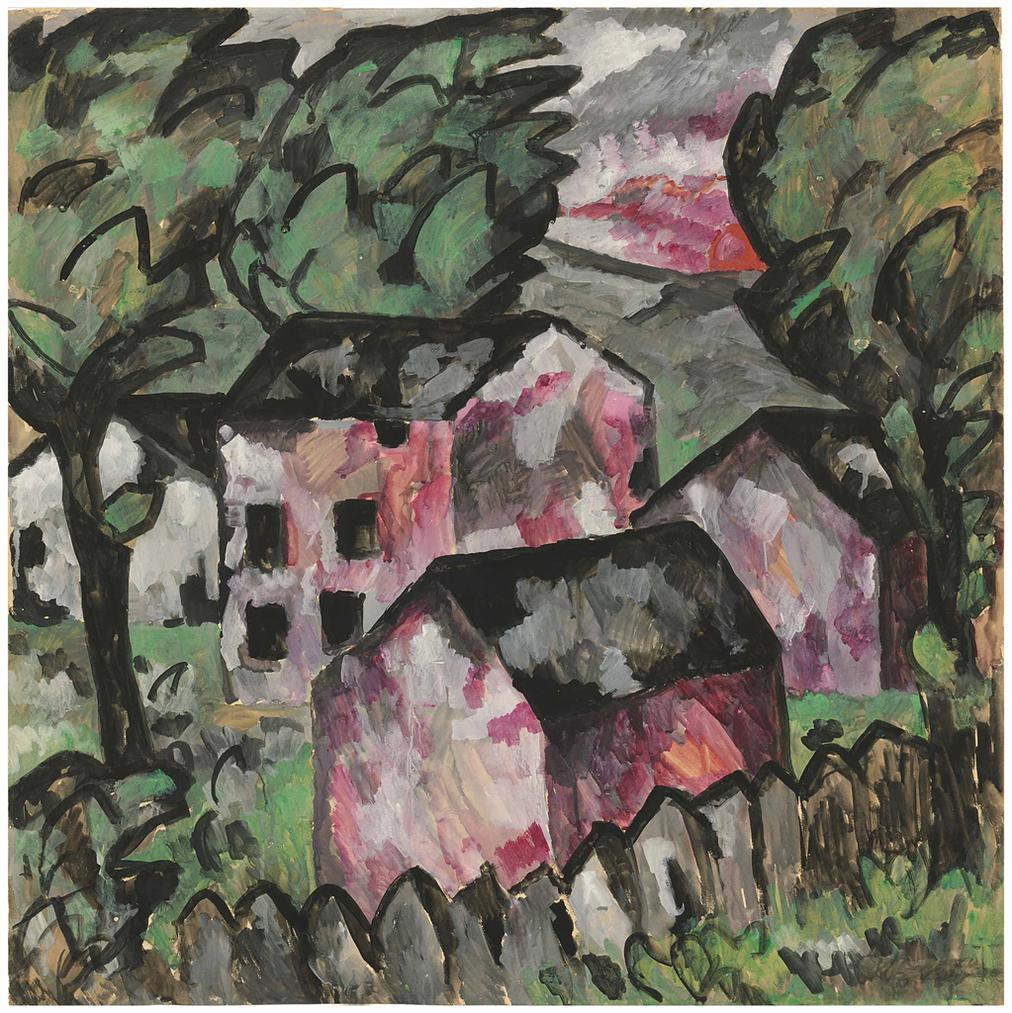 Kazimir Malevich-Landscape-1911