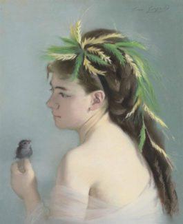 Eva Gonzales-Le Moineau-1870